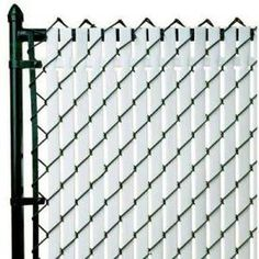 Pexco�6-in x 5-ft 10-in White Chain-Link Privacy Slat