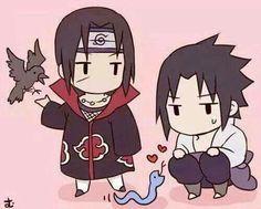Itachi x Sasuke Anime Naruto, Naruto Cute, Naruto Funny, Naruto And Sasuke, Itachi Uchiha, Anime Chibi, Kawaii Anime, Naruto Images, Naruto Pictures