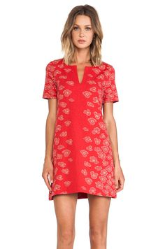 Marc by Marc Jacobs Cassie Animal Print Jersey Dress in Pompei Red