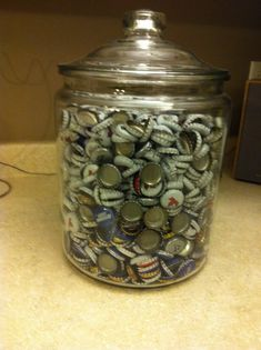 buck & doe prize idea - guess # of beer caps - win a liquor store gift card - have the gift card donated $1 a guess and it is pure profit