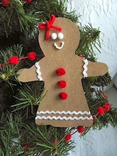 gingerbread ornaments | make them into a garland to hang down the bannister