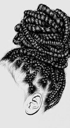 Love Nature Drawings 18 Ideas For 2019 Black Love Art, Black Girl Art, Black Girl Magic, Art Girl, African American Art, African Art, Arte Black, Black Girl Cartoon, Hair Sketch