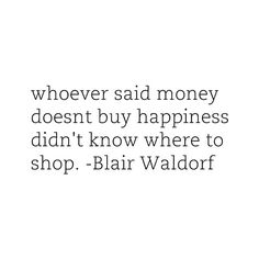 I have no idea who Blair Waldorf is, but she is SO right on this!