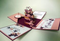 Explosionsbox zur Hochzeit  mit Stampin'up! @ Ute Lamprecht Up, Place Cards, Place Card Holders, Wedding