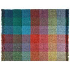 Zuzunaga - Dark Squares Throw (€275) ❤ liked on Polyvore featuring home, bed & bath, bedding, blankets, merino wool blanket, pixel bedding, merino blanket, london bedding and merino wool throw
