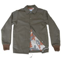 GREEN DRILL COTTON COACH JACKET