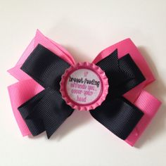 "Breast Feeding bow ""If breast feeding offends you... Cover your head"""