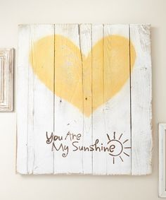 Look at this 'You Are My Sunshine' Barnwood Wall Art on #zulily today!
