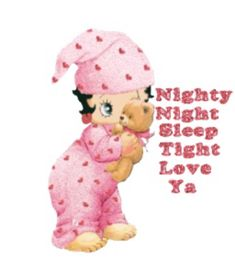 Betty Boop by Good Night Funny, Good Night Love Images, Good Night Moon, Good Night Image, Good Morning Good Night, Night Time, Good Night Greetings, Good Night Messages, Good Night Wishes