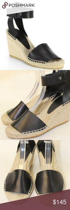 bad55d50be84 Vince Black Leather Wedges EUR 37 US 6.5 Vince BRAND NEW Black Leather  Wedges Women s Size EUR 37 US Size 6.5 Vince Shoes Wedges