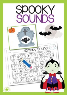Spooky fun with beginning sounds for Halloween learning! #Halloween #busylittlebugs #printables #TPT