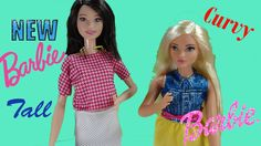 NEW Curvy Barbie and Tall Barbie Fashionista Collection 2016 Mattel Swap...