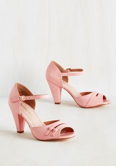 All-Singing All-Prancing Heel in Pink $64.99 AT vintagedancer.com
