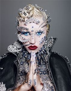 Brooke Candy avant garde makeup