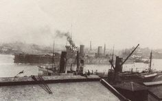 The Jarrow built Queen Mary leaving harbour.