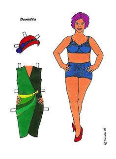 Karen`s Paper Dolls: Daniella 1-2 Paper Doll in Colours. Daniella 1-2…