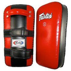 Fairtex Leather Thai Pads Medium Velcro Black / Red