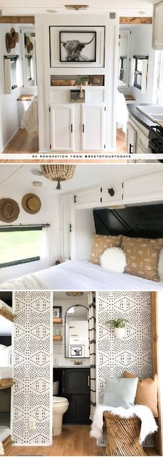 This Nashville Couple brings new life to outdated campers! Come see the before and after photos of their Forest River RV transformation! Featuring @bestofourtodays on MountainModernLife.com #campers #camperrenovation #rvremodel #rvrenovation #rvmakeover #modernrv #moderncamper #tinyhomeonwheels #tinyhometour