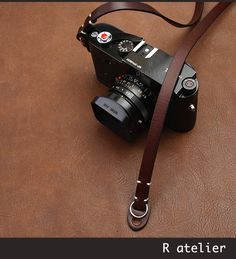 $36 | Handmade Leather Camera Strap | Classic Rangefinder Camera Strap | Brown Color #handmadeleather #leathergifts #camerastrap #cameraaccessories