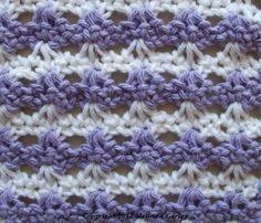 Double-Ended Hook Tunisian Crochet-Single Crochet Loop Shell