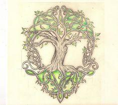 mon dessin : l'arbre de vie