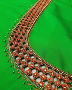 Cutwork Blouse Designs, Wedding Saree Blouse Designs, Best Blouse Designs, Simple Blouse Designs, Blouse Neck Designs, Hand Embroidery Designs, Cut Work Blouse, Hand Work Blouse Design, Maggam Work Designs