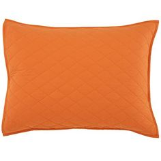 The Land of Nod | Kids Blankets: Orange Quilted Blanket and Sham in Quilts & Blankets