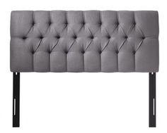 Belgian Linen Custom Kensington Upholstered Headboard - Tufted Headboard - Custom-upholstered Headboards - Belgian Linen Upholstery - Fabric Headboard | HomeDecorators.com