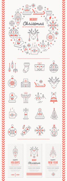 ANCIENT CHRISTMAS: Set of Icons and Design Layouts on Behance