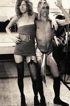 David Bowie and Iggy Pop. S)