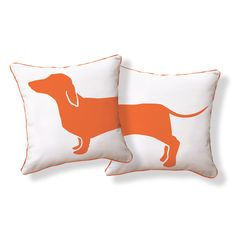 Orange Hot Dog Pillow by S. Phornirunlit