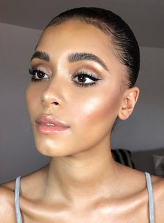 Gorgeous summer bronzed makeup look for night time #makeup
