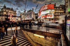 Picadilly Circus. favorite place in the world to come up from the subway
