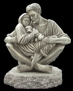 """A Quiet Moment"" Holy Family statue --Jesus, Mary, and Joseph portrayed in perfect harmony, love and peace.  A celebration of the purity of love."