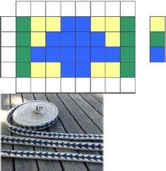 Simple tablet weaving patterns 1. Repinned by Elizabeth VanBuskirk.