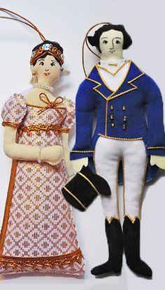 Doll / Decoration - Elizabeth Darcy - Handmade Jane Austen Online Giftshop