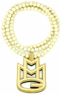 MMG Maybach Music Group Necklace Goodwood Maple All Natural Wood Replica Piece GWOOD. $12.50. Clear Detail and Smooth Back. Wood Bead Chain And Pendant. Light Weight. All Natural Wood. MMG Maybach Music Group Pendant Necklace. Save 79% Off!