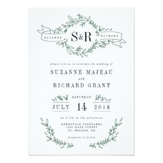 Rustic Elegant Floral Monogram Wedding Invitations This rustic, elegant wedding invitation is perfect for your spring or summer outdoor wedding. Customize these invitations / products for your weddings. Monogram Wedding Invitations, Rustic Invitations, Elegant Wedding Invitations, Wedding Invitation Cards, Invites, Wedding Monograms, Traditional Wedding Invitations, Invitation Wording, Invitation Suite