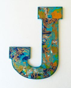 Nursery letter J. Decorative wall letter. Letter T by DulcetWhimsy