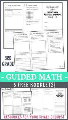 Free 3rd Grade Guided Math Resources! WAYS TO USE: * Introduce a specific standard whole group * Use in small group to practice/reteach a specific standard * Place in an independent math workshop center * Use the 3rd tri-fold as an ASSESSMENT!