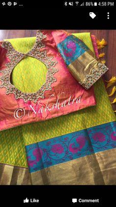 Five Best Saree Blouse Designs – Fashion Asia South Indian Blouse Designs, Best Blouse Designs, Blouse Back Neck Designs, Silk Saree Blouse Designs, Blouse Patterns, Boutique Names, Mirror Work Blouse, Kids Lehenga, Blouse Models