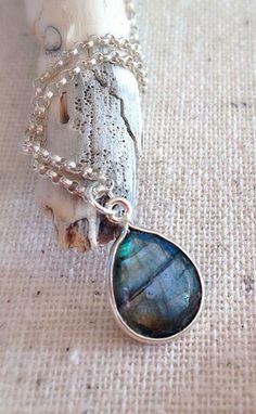 Labradorite Necklace Simple Necklace Everyday Necklace