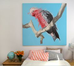 Featured Artists: Martinich&Carran, Geoffrey Carran's Galah painting 2014