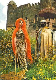Maudie James and Archbishop of Gondar by Norman Parkinson, British Vogue, Jan 1,1969 - she's wearing Ken Scott)