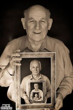 I love this photo idea! It's a great generational picture for those who cannot be in the same place at the same time.