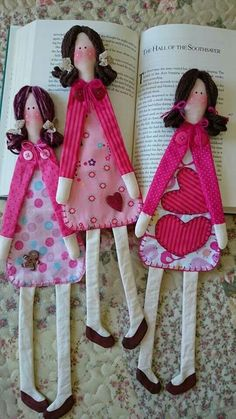 Marca paginas - girl book mark  - can make one girl and one boy bookmark.