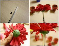 make flower pens for birthday party craft . . .