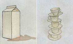 Ordinary Household Objects Painted Like Black White Line Drawings | FreeYork