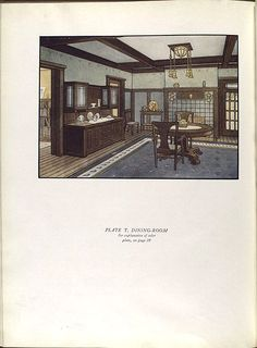 National Lead Co 1913 paint catalog. Dining Room.