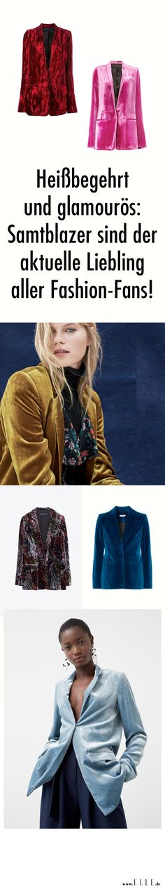 Samtblazer erobern gerade die Schultern der Modeszene. Wie man sie stylt und wo es die schönsten Modelle in allen Farben gibt, erfahrt ihr auf ELLE.de!